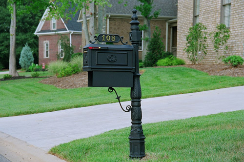 Picking a decorative mailbox for your home bali garden for Unique mailboxes to buy